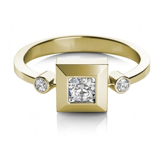 Couple, Prsten Ima ve žlutém zlatě se zirkony