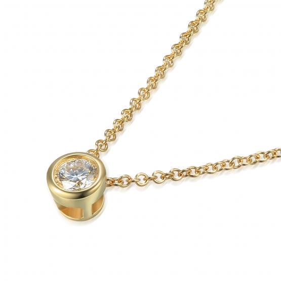 Elegantní náhrdelník Kirsty, žluté zlato s briliantem