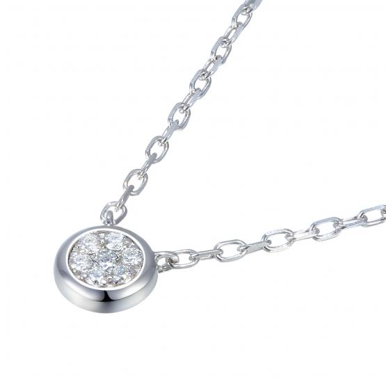 Elegantní náhrdelník Maila, bílé zlato s brilianty