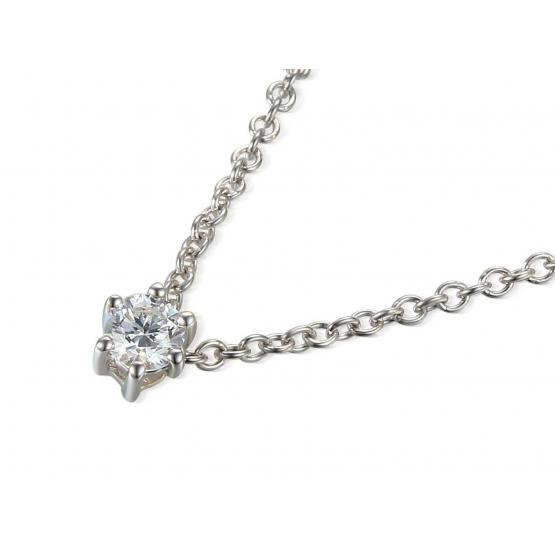 Jemný náhrdelník Aisha, bílé zlato a briliant