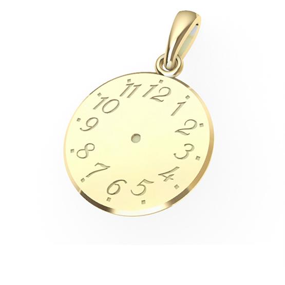 Luxur, Přívěsek ze žlutého zlata – Křtící hodinky