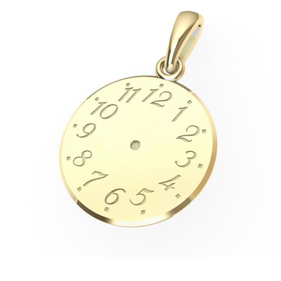 Přívěsek ze žlutého zlata – Křtící hodinky II