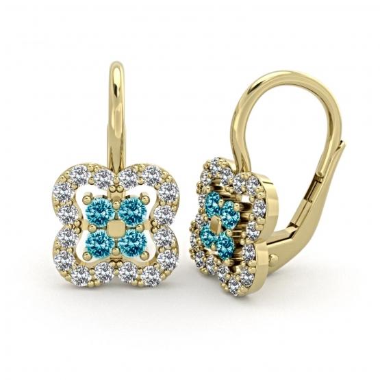 Couple, Elegantní náušnice Elodie, žluté zlato a zirkony