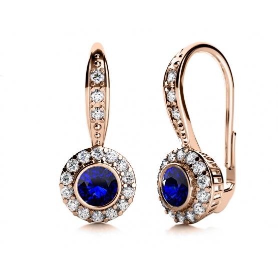 Couple, Luxusní náušnice Samantha, růžové zlato a zirkony