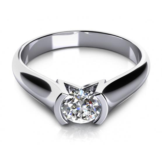 Zásnubní prsten Zaria v bílém zlatě s briliantem