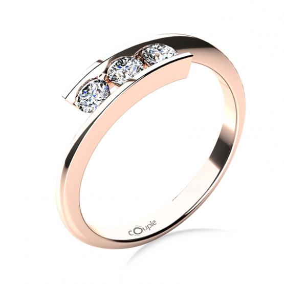 Zásnubní prsten Seraphine, růžové zlato a brilianty