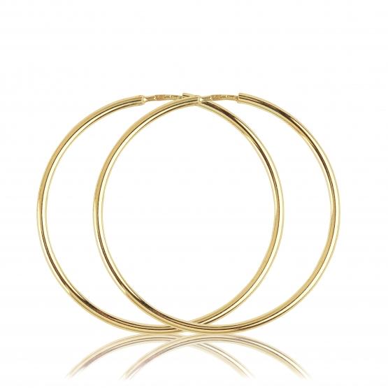Kruhové náušnice Classic, žluté zlato