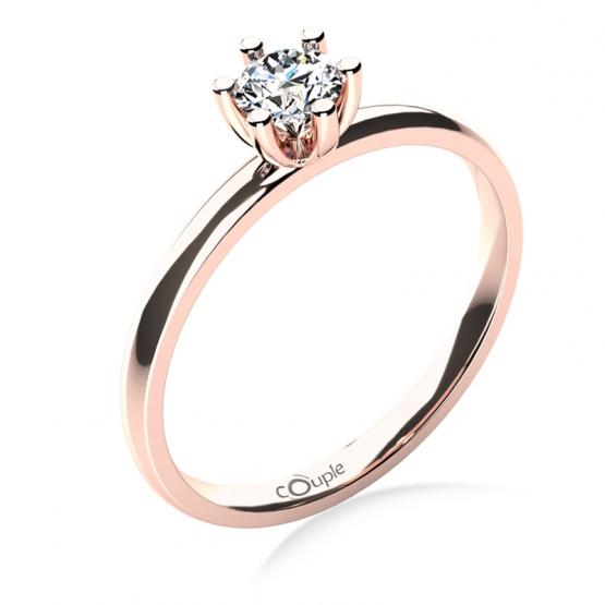 Zásnubní prsten Zoel, růžové zlato a zirkon