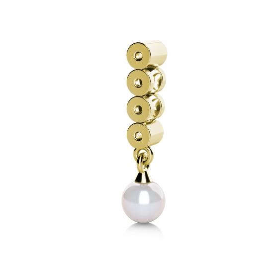 Elegantní perlový přívěsek Corinne ze žlutého zlata