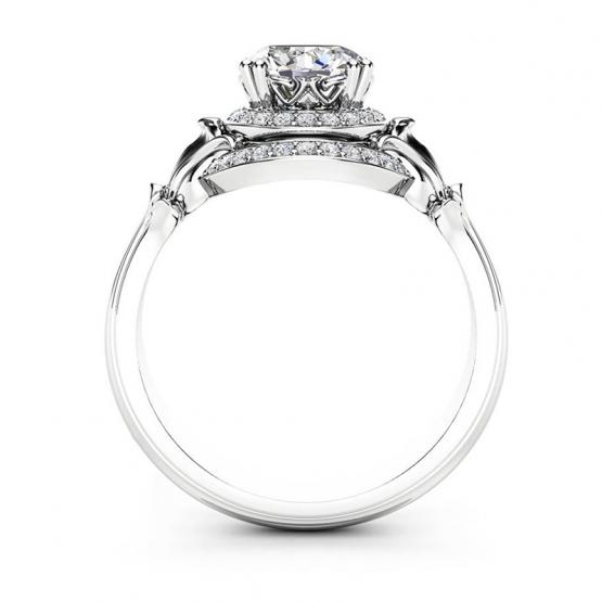 Gems, Noblesní prsten Haeven, bílé zlato a brilianty