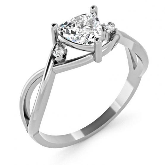 Couple, Originální prsten Karin, bílé zlato se zirkony
