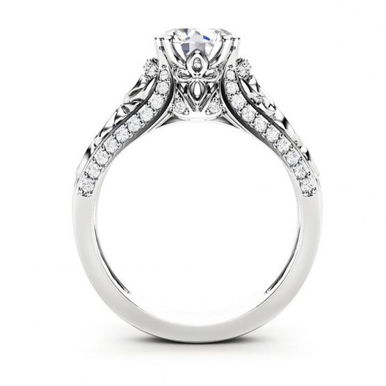 Úchvatný prsten Enchanting Silvana, bílé zlato a brilianty