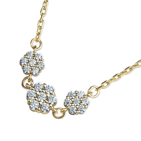 Decentní náhrdelník Lilia, žluté zlato se zirkony