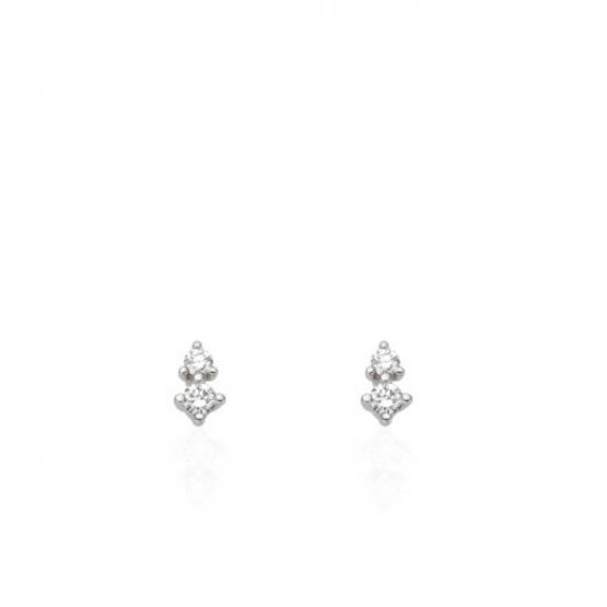 Náušnice z diamantového setu Bertha, bílé zlato s brilianty