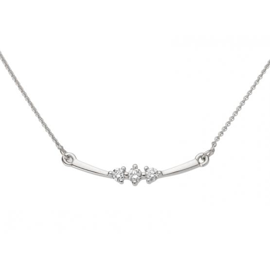 Gems, Náhrdelník z diamantového setu Bertha, bílé zlato s brilianty