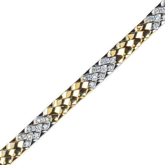 Zlatý řetěz Cynthia, žluté zlato se zirkony
