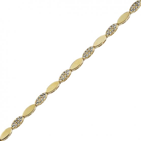 Couple, Elegantní náramek Edie, žluté zlato se zirkony
