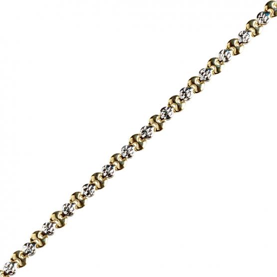 Elegantní řetěz Myra, žluté a bílé zlato