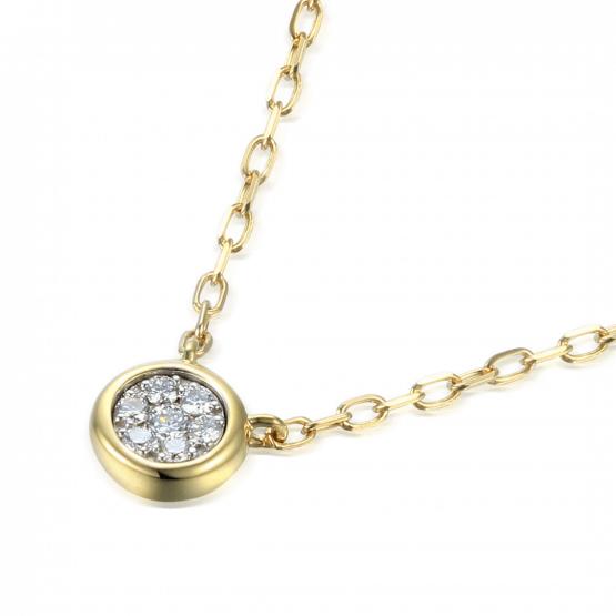 Elegantní náhrdelník Maila, žluté zlato s brilianty