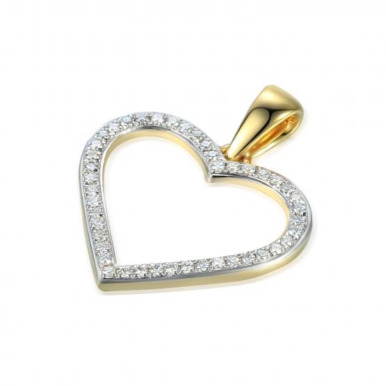Elegantní přívěsek Amber, kombinované zlato s diamanty