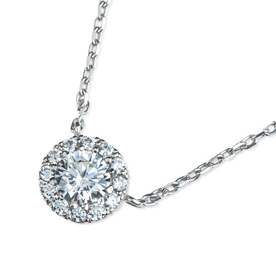 Elegantní náhrdelník Mirabel, bílé zlato se zirkony