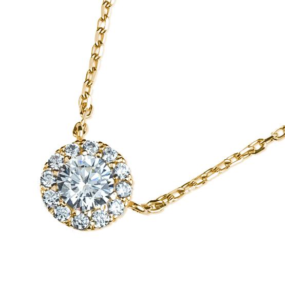 Elegantní náhrdelník Mirabel, žluté zlato se zirkony