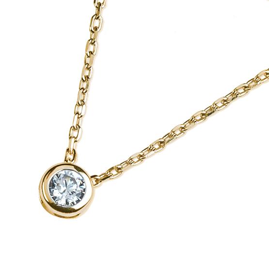 Decentní náhrdelník Selena, žluté zlato se zirkonem