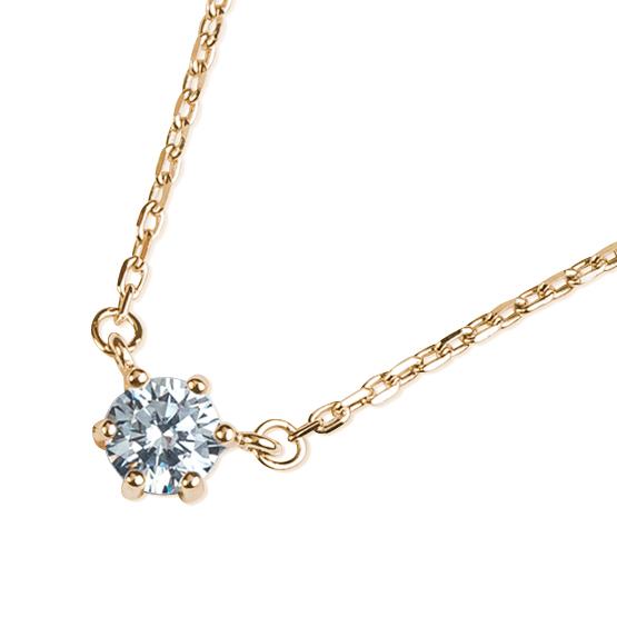Decentní náhrdelník Meg, žluté zlato se zirkonem