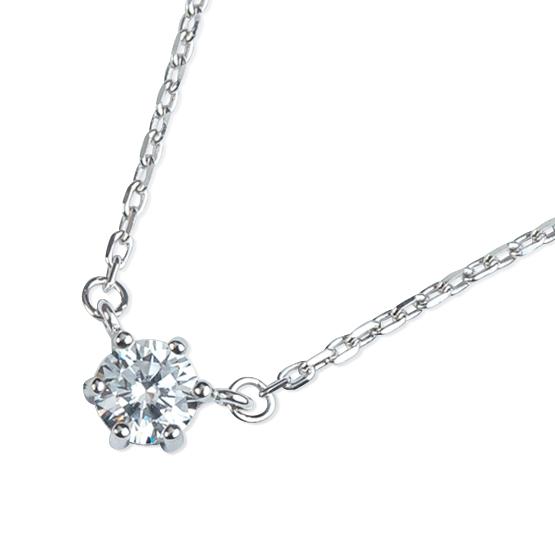 Decentní náhrdelník Meg, bílé zlato se zirkonem