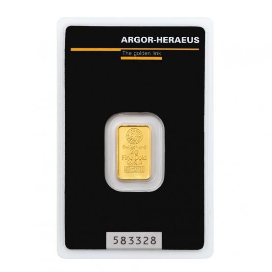 ARGOR-HERAEUS, Investiční zlato 2 g