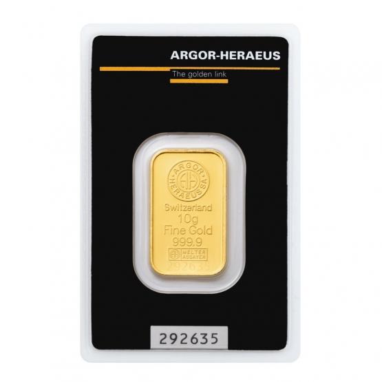 ARGOR-HERAEUS, Investiční zlato 10 g