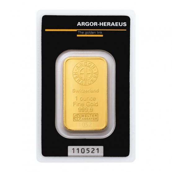 ARGOR-HERAEUS, Investiční zlato unce (1 OZ) 31,10 g