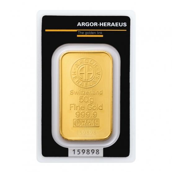 ARGOR-HERAEUS, Investiční zlato 50 g