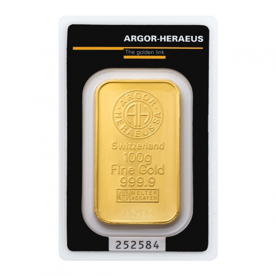 ARGOR-HERAEUS, Investiční zlato 100 g