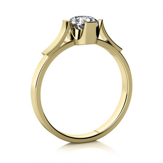 Couple, Zásnubní prsten Mathia – žluté zlato a zirkon, vel.: 57, ø18,1 mm, 6810336-0-57-1