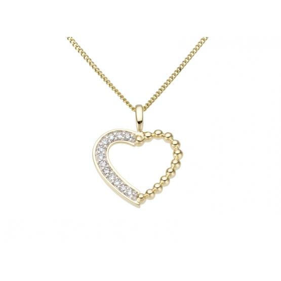 Přívěsek z diamantového setu Millicent, kombinované zlato s brilianty