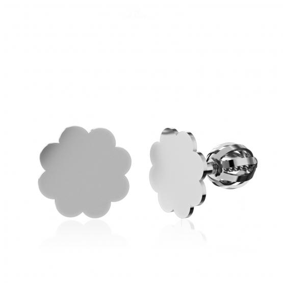 Couple, Minimalistické náušnice IDOL Cloud, bílé zlato