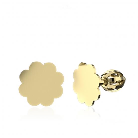Minimalistické náušnice IDOL Cloud, žluté zlato