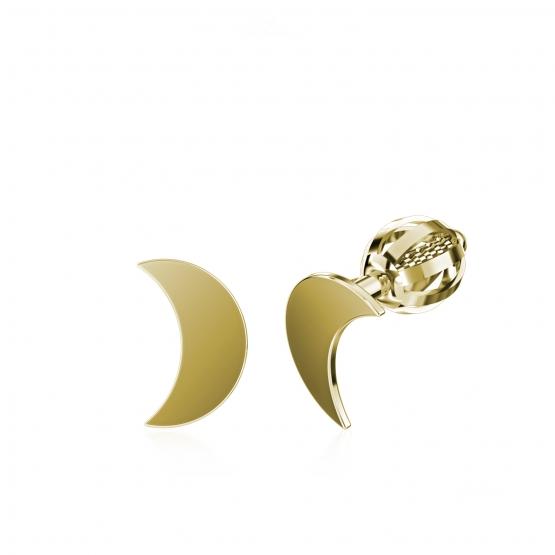 Couple, Minimalistické náušnice IDOL Moon, žluté zlato