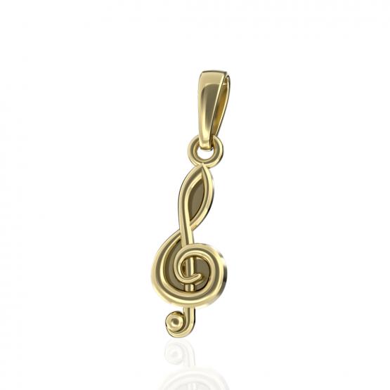 Hudební přívěsek Trai ze žlutého zlata