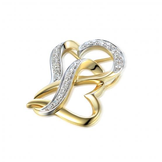 Diamantový přívěsek Livia, žluté zlato a bílé zlato