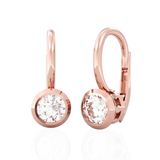 Couple, Elegantní náušnice Anisha, růžové zlato se zirkonem, 6680663-4-0-1