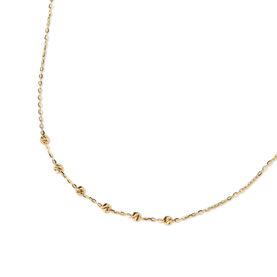 Luxur, Elegantní řetízek Leah ve žlutém zlatě, délka: 19 cm, 1441015-0-19-0