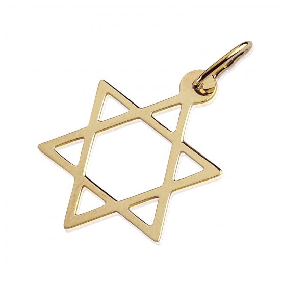 Přívěsek Stern ve tvaru hvězdy, žluté zlato
