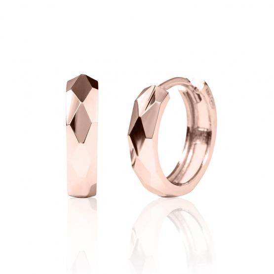 Kruhové náušnice Harly z růžového zlata