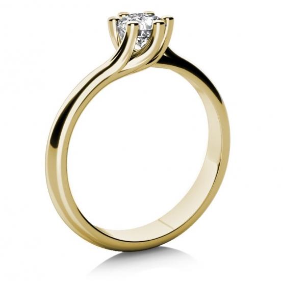 Zásnubní prsten Loraine, žluté zlato a briliant