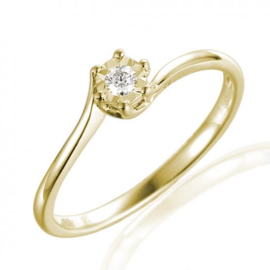 Zásnubní prsten Hester, žluté zlato briliantem