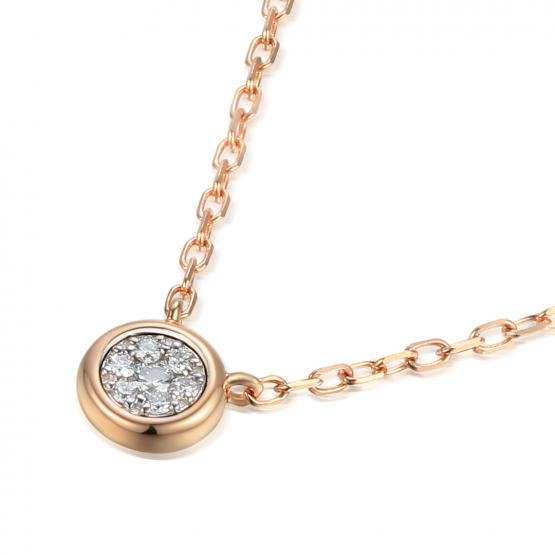 Elegantní náhrdelník Maila, růžové zlato s brilianty