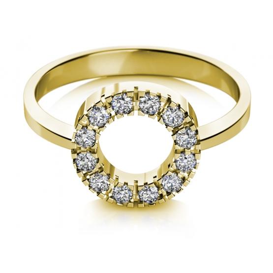 Couple, Prsten Sarah ve žlutém zlatě se zirkony