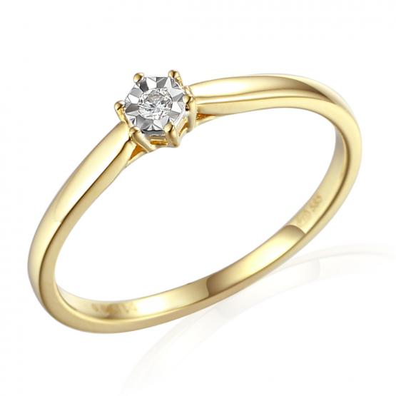 Decentní prsten Dara, kombinované zlato s brilianty